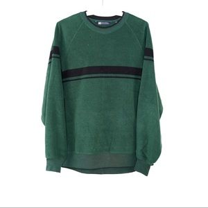American Eagle Green Fleece Sweater